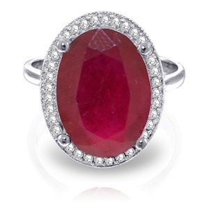 GOLD RING WITH NATURAL DIAMONDS & RUBY